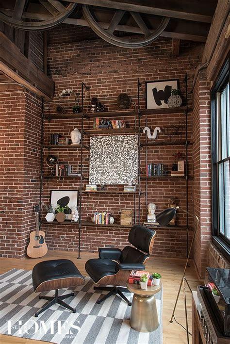 déco style industriel sublime salon inspiration style industriel murs en brique