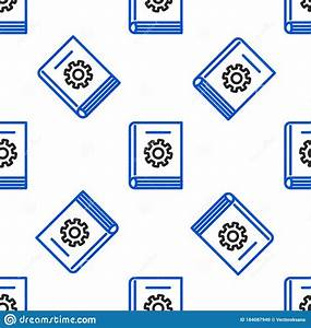 Line User Manual Icon Isolated Seamless Pattern On White