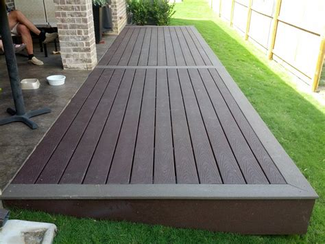 composite colors simple two tone composite deck landscape design in 2019