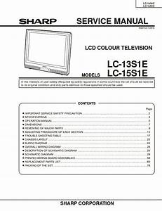 Sharp Lc-13s1e Service Manual