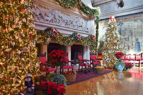 biltmore estate great hall  christmas decorations flickr
