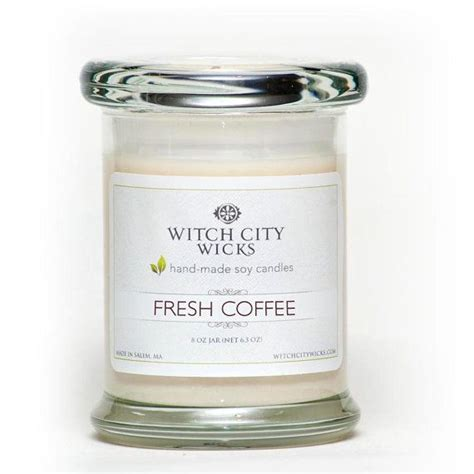 The candle features just a hint of chocolate to add to the fullness of the fragrance. Fresh Coffee scented soy wax jar candle by WitchCityWicks ...
