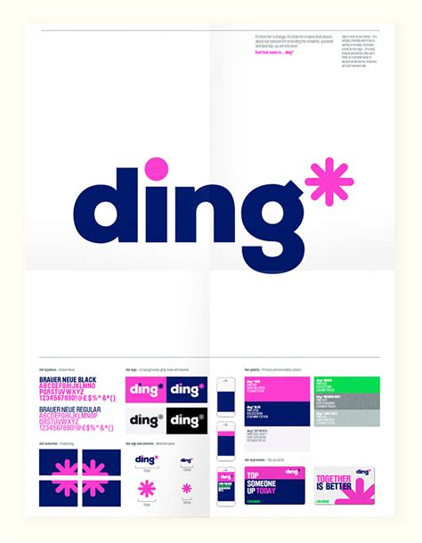 brand new new name logo and identity for ding by dixonbaxi