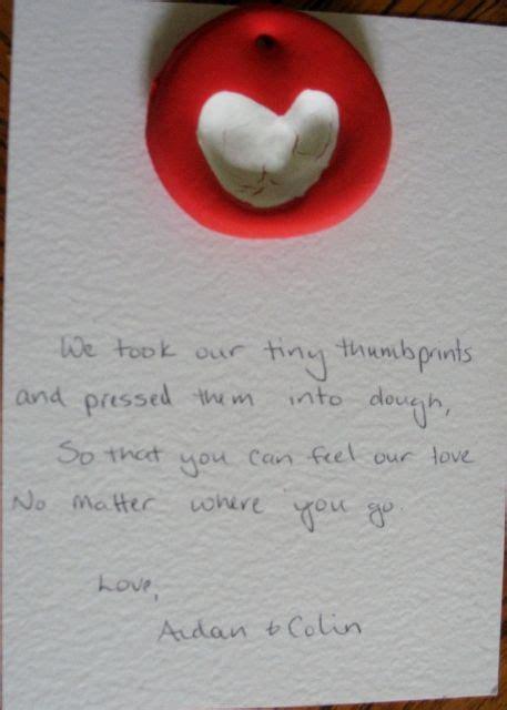monday thumbprint hearts diy gifts  kids