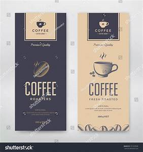 coffee packaging design vector template package stock With coffee label design template