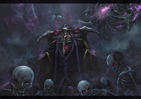 Anime Skull Wallpaper - wallpaper skull skeleton overlord