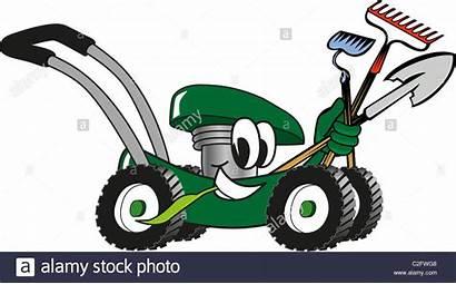 Lawn Mower Cartoon Tools Maintenance Care Clipart