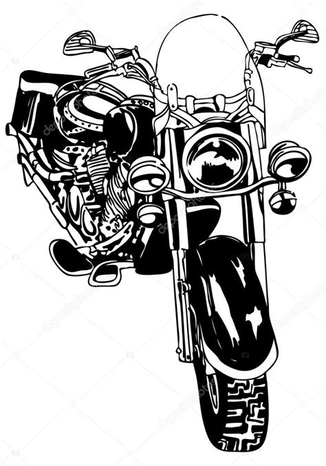Motorcycle Drawing — Stock Vector © cteconsulting #3984811