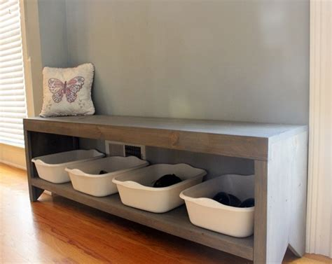 dave tells    build  bench  shoe storage
