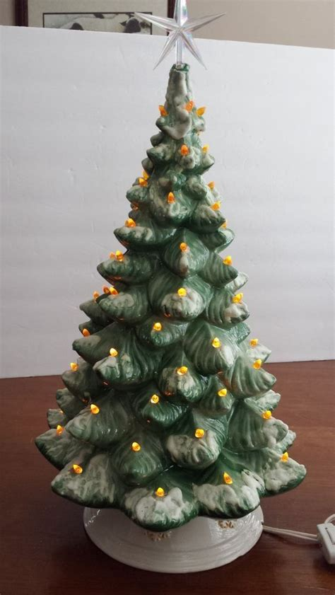 modern lighted christmas tree large 18 quot vintage ceramic lighted christmas tree with base