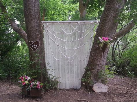 Outdoor Wedding Backdrop My Crafty Creations Pinterest