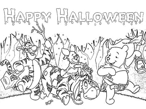 4 Picture Of Happy Halloween Coloring