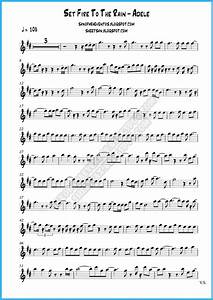 Sheet music and playalong of Set Fire To The Rain by Adele ...