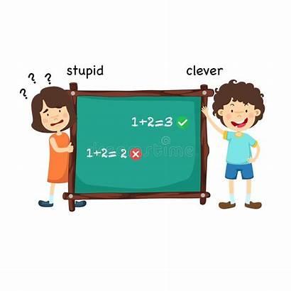 Stupid Clipart Clip Dumb Abile Listo Smart