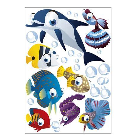 Wandsticker Unterwasserwelt  Fische  Ozean Wandtattoo