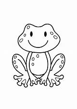 Coloring Frogs Pages Children Simple Frog Printable Justcolor Monkey Animals Preschool sketch template