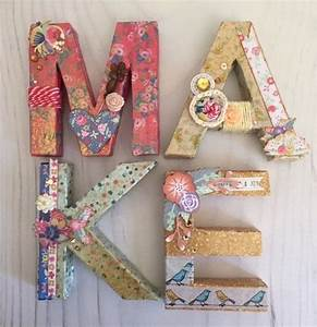 best 25 decoupage letters ideas on pinterest name With decoupage letters