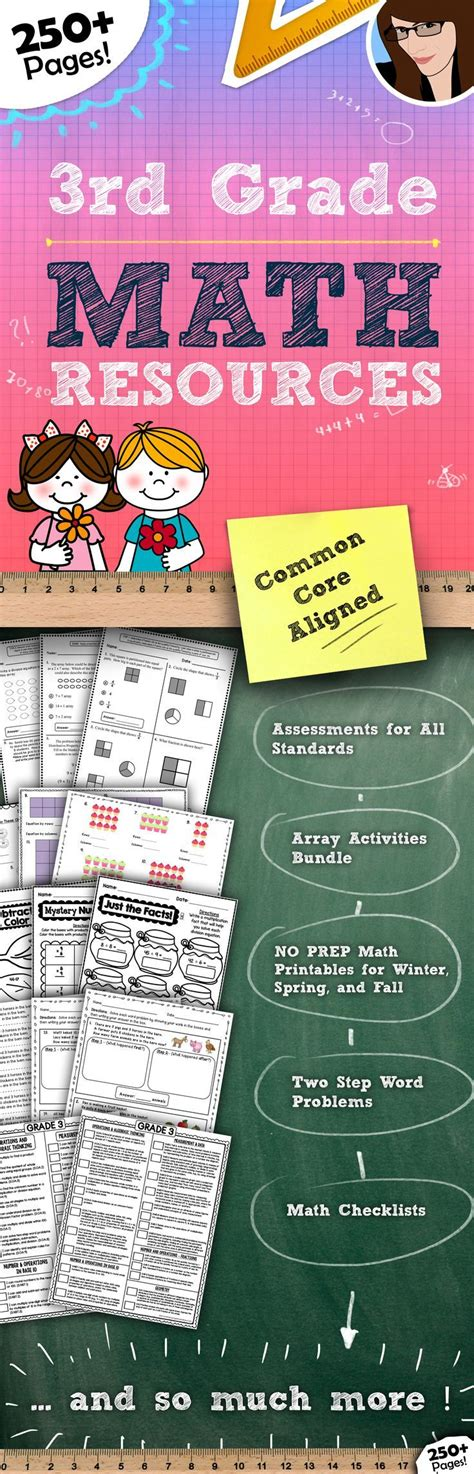 3rd Grade Math Resource Bundle250+ Pages  Tpt Math Lessons  Pinterest Studentcentered
