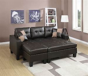 Espresso dark brown bonded leather sectional sofa and for Eurodesign brown leather 5 piece sectional sofa set