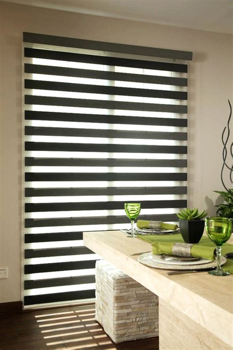 zebra  panel track blinds   sunflex