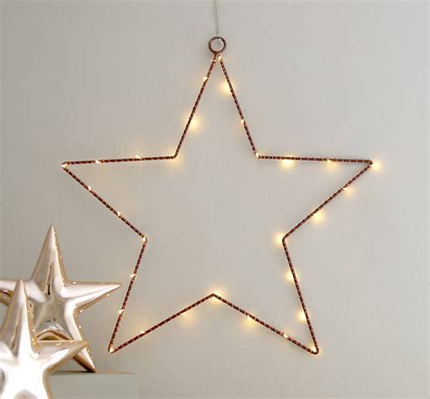 Copper Wire Star Light Decoration By Red Lilly