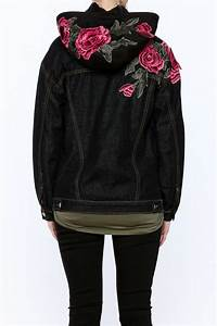 Polly & Esther Floral Embroidered Hooded Jacket from