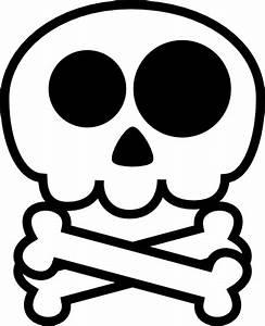 Cute Skull And Crossbones Clip Art at Clker.com - vector ...