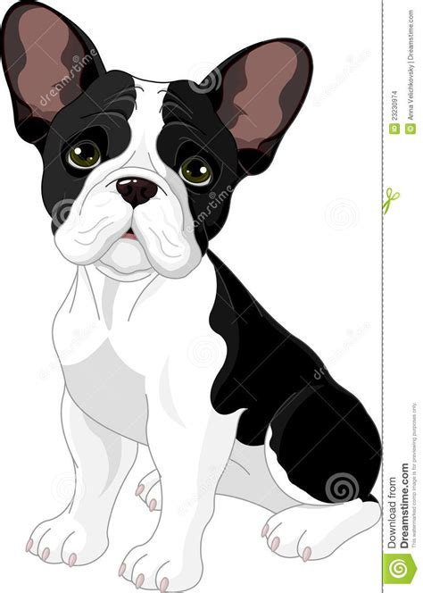 french bulldog stock vector image  themes cartoon