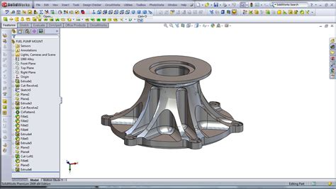 cad modeling  high performance engine part