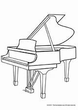 Piano Coloring Pages Musical Grand sketch template