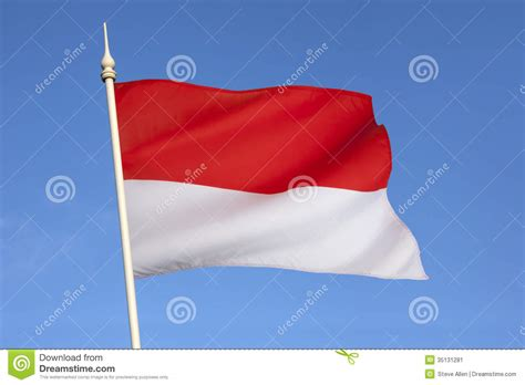 flag  monaco french riviera europe stock image