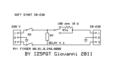 schema elettrico soft start fare di una mosca