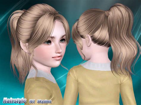 Classic Ponytail With Huge Bangs Hairstyle 161 By Skysims