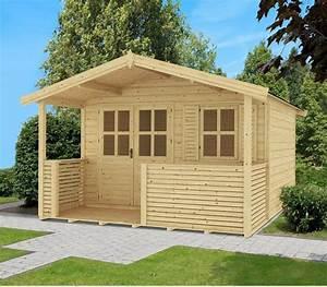 Gartenhaus Mit Vordach : outdoor life products gartenhaus saba 1 bxt 340x300 cm 28 mm inkl terrasse vordach ~ Udekor.club Haus und Dekorationen