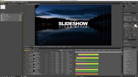 after effects slideshow slideshow clean style after effects tutorial