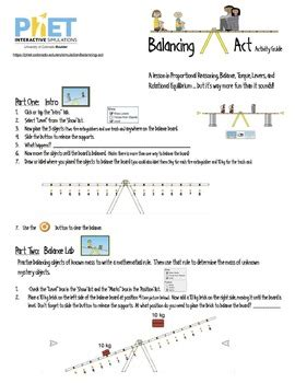 Balancing Act Key Science Worksheet Balancing Best Free Printable Worksheets
