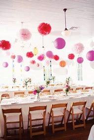 Tissue Paper Pom Poms and Lanterns