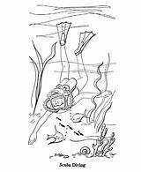Scuba Coloring Pages Summer Diver Diving Sheets Drawing Season Activity Printable Seasons Fun Activities Sports Designlooter Drawings Farm 95kb 820px sketch template