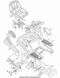 Mtd 13ap625k730  2007  Parts Diagram For Seat  U0026 Deck Lift