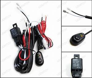 Led Light Wiring Harness W   On  Off Switch Relay Kit For