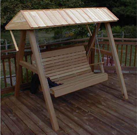 cedar wooden canopy for porch swing contemporary