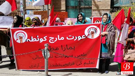 Quetta: Women March Demands a Society Sans Exploitive ...