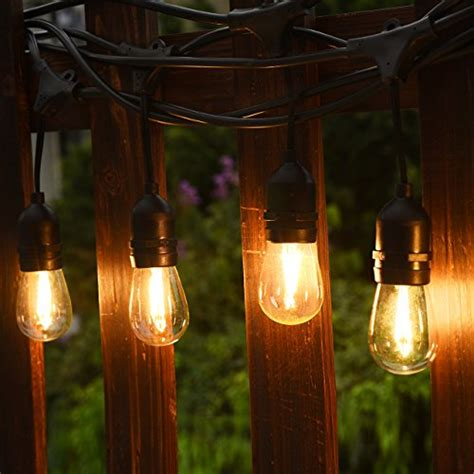 cymas outdoor string lights 49 ft weatherproof e26 edison
