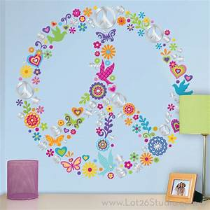 peace sign collage wall decals wall decals san With good look peace sign wall decals