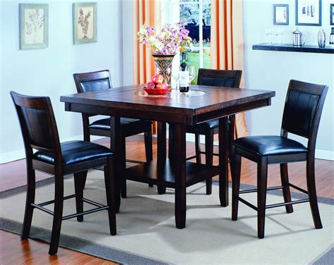 crown mark fulton  piece counter height table  chair