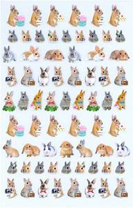 Letter Sheet Stationery Kawaii Bunny Rabbit Cake Macaron Stickers Sticker Sheets