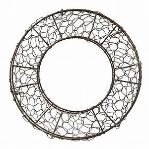 12, U0026quot, Fillable, Rust, Chicken, Wire, Wreath, Form