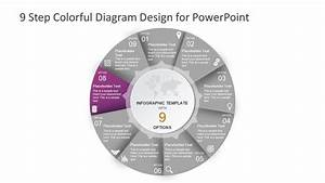 9 Step Colorful Diagram Design For Powerpoint