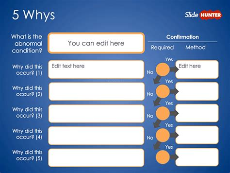 Free 5 Whys Form Powerpoint Template