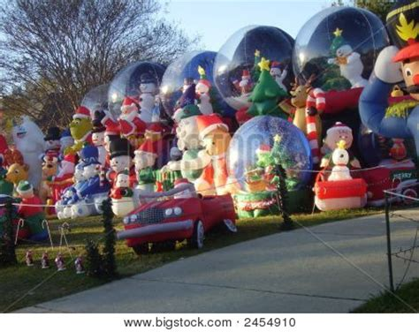 front yard christmas excess stock photo stock images